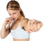 woman punchint