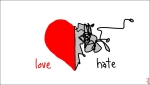 love-or-hate heart