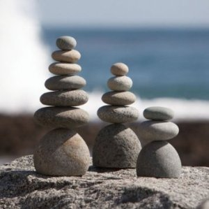 savoring living meditation rock cairns 3