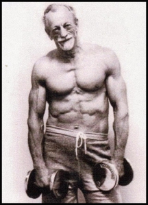 P8 old dude with 6 pack