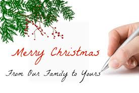 christmas letter cover up card