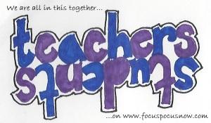 teachersstudents with text