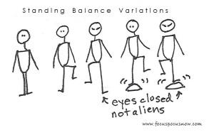 proprioception standing balance