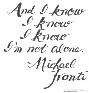 I know I'm not alone 052416